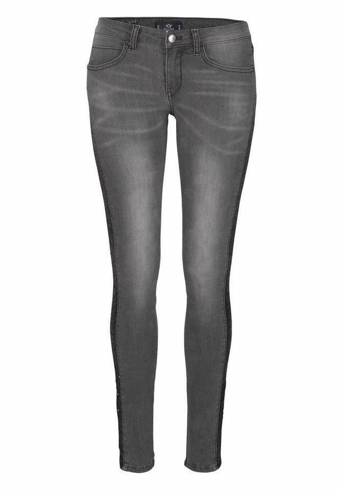 Damen Fritzi aus Preußen Skinny-fit-Jeans schwarz | 04059065057951