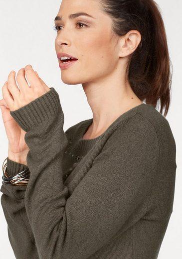 Laura Scott Rundhalspullover, mit Nietendetails
