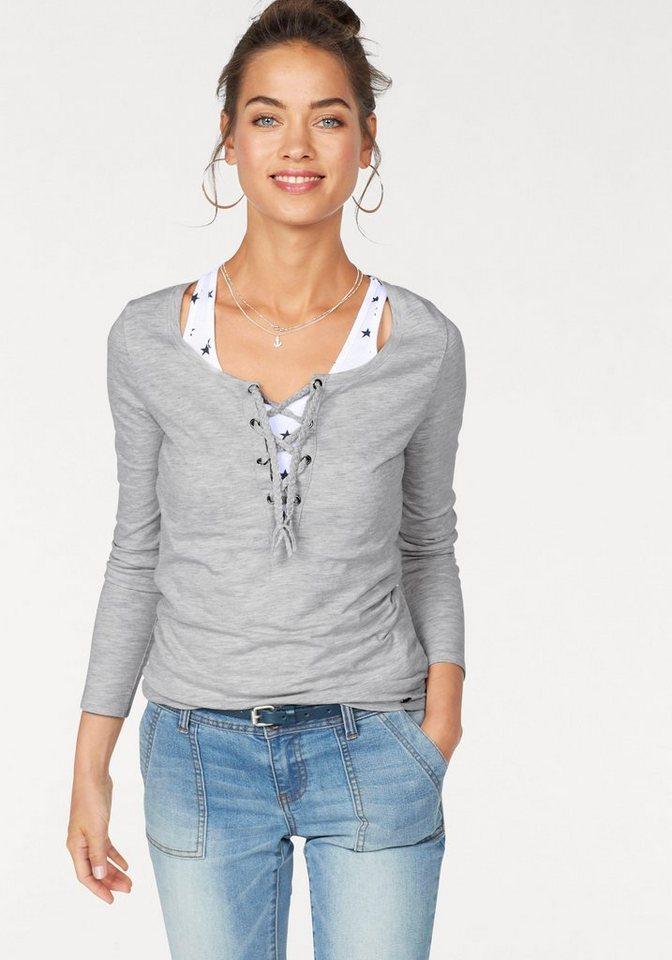 ajc 2 in 1 langarmshirt set 2 tlg mit ringerr cken top und shirt mit schn rung online kaufen. Black Bedroom Furniture Sets. Home Design Ideas
