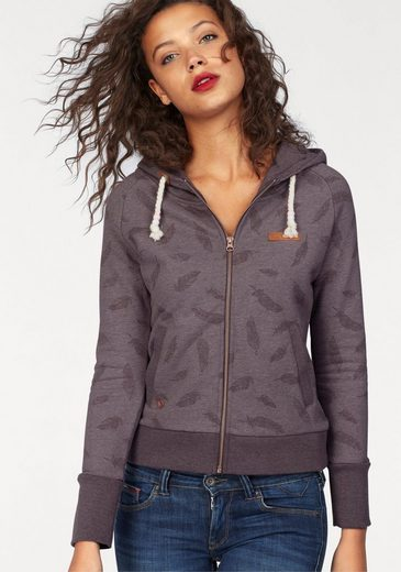 MAZINE Kapuzensweatjacke WINTON, im Allover-Design