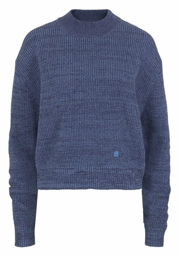 G-Star RAW Stehkragenpullover Fogela, in melierter Optik