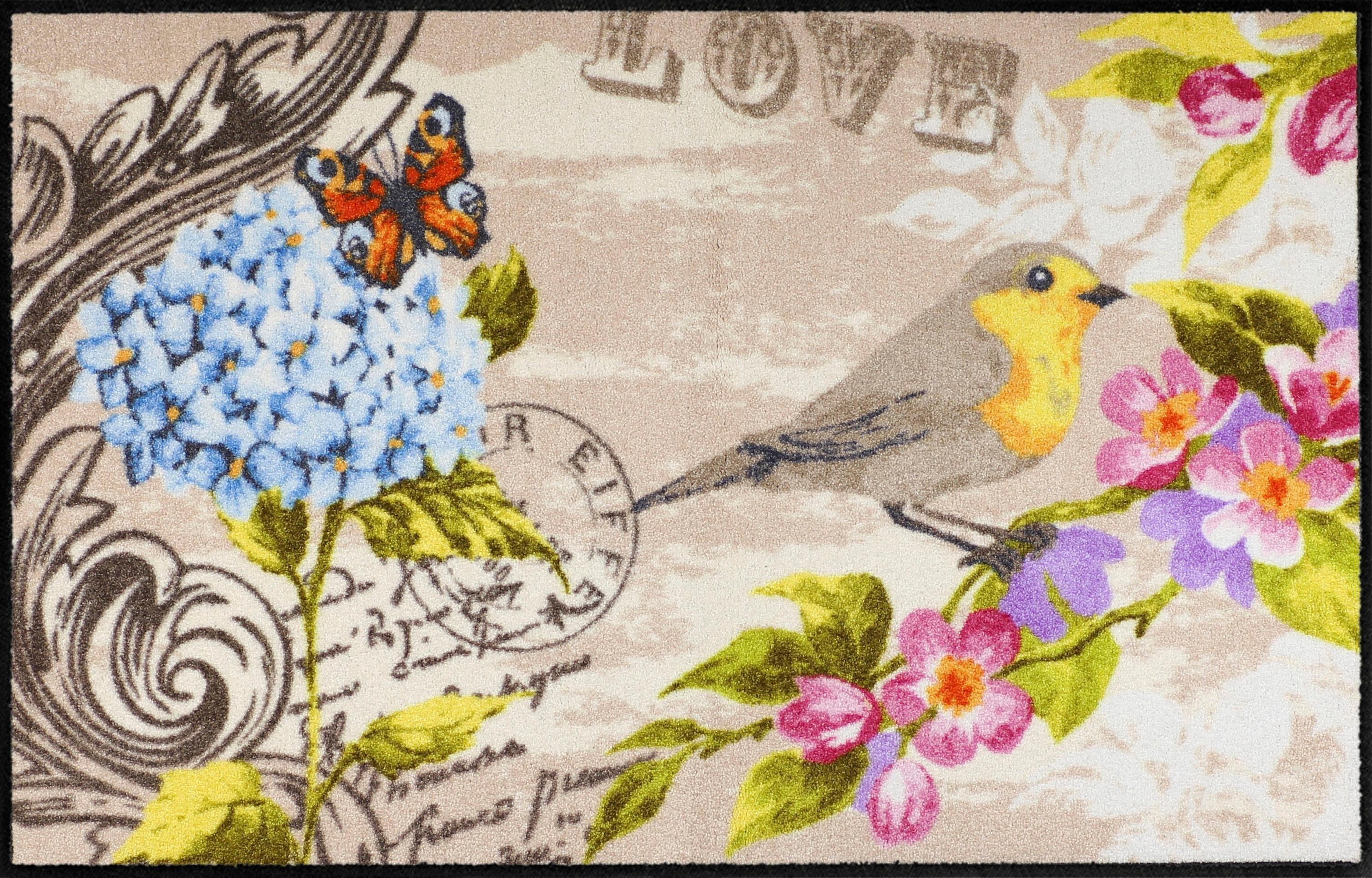 Fußmatte »Love Bird«, Salonloewe, rechteckig, Höhe 6 mm