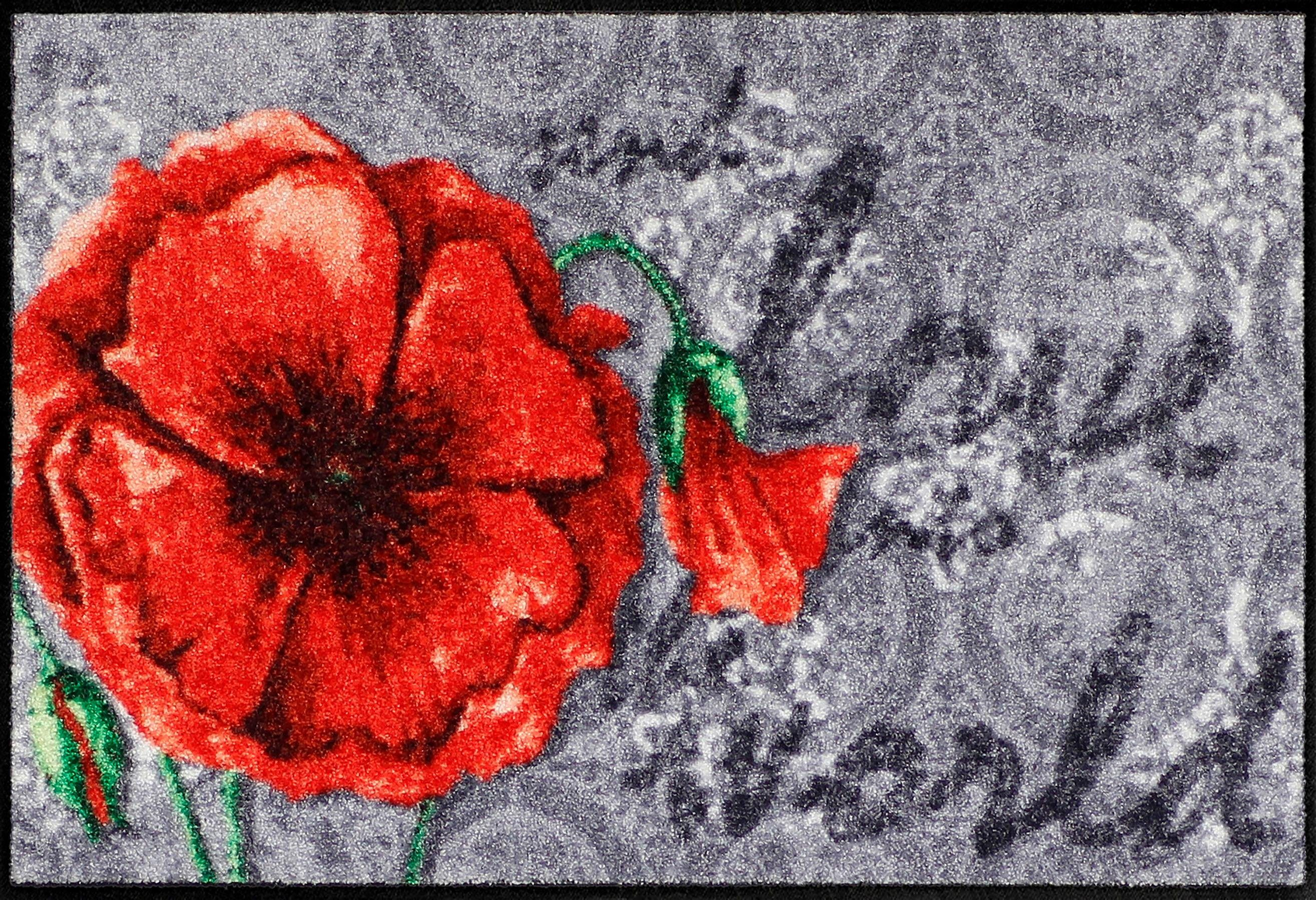Fußmatte »Love Poppy«, Salonloewe, rechteckig, Höhe 6 mm