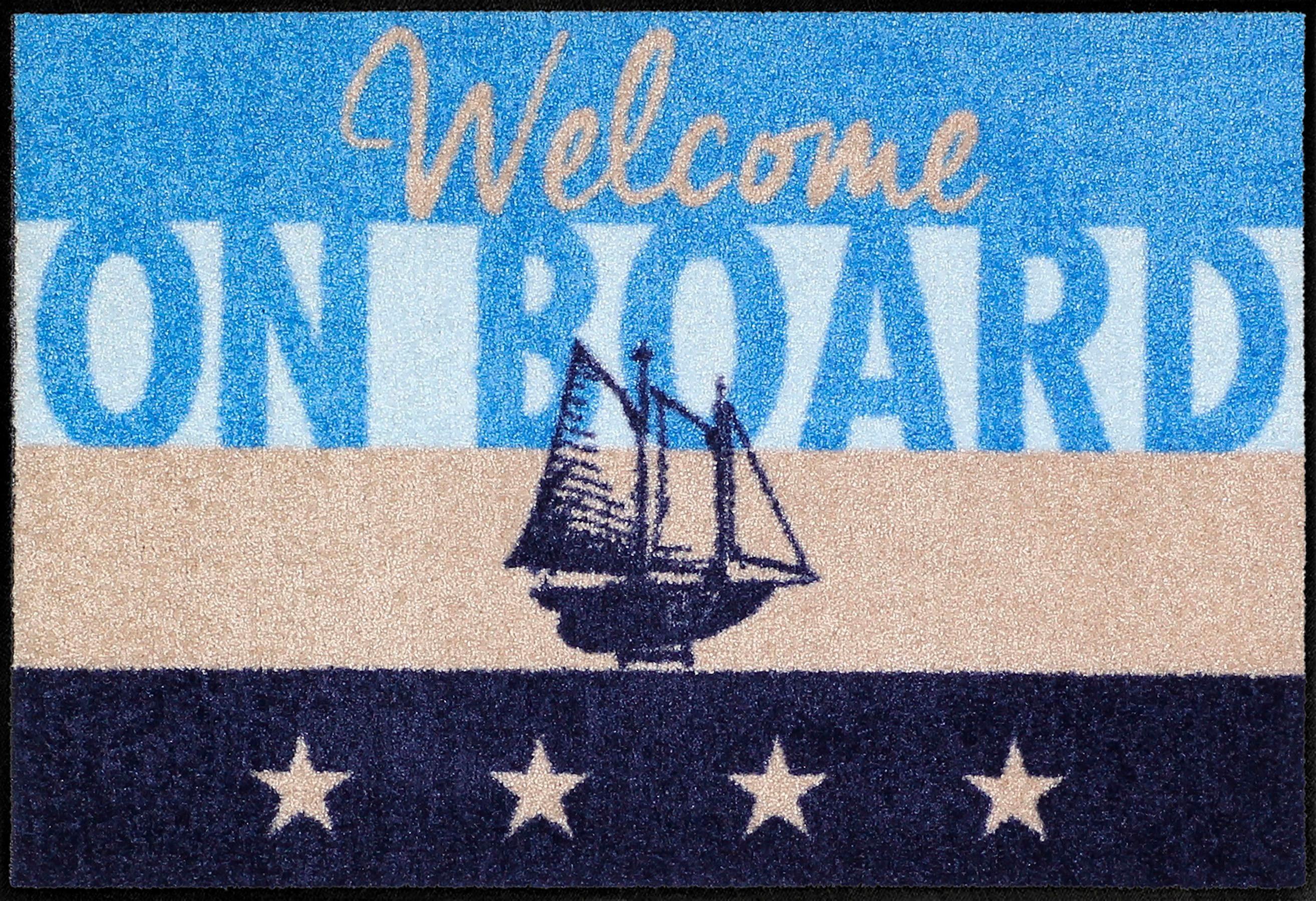 Fußmatte »Welcome Yacht«, Salonloewe, rechteckig, Höhe 6 mm