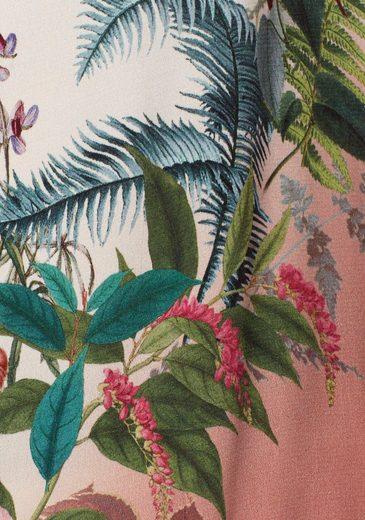 Please Jeans Blusenshirt, mit Blumen-Print