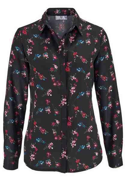 AJC Hemdbluse, mit leuchtendem Blumen Druck