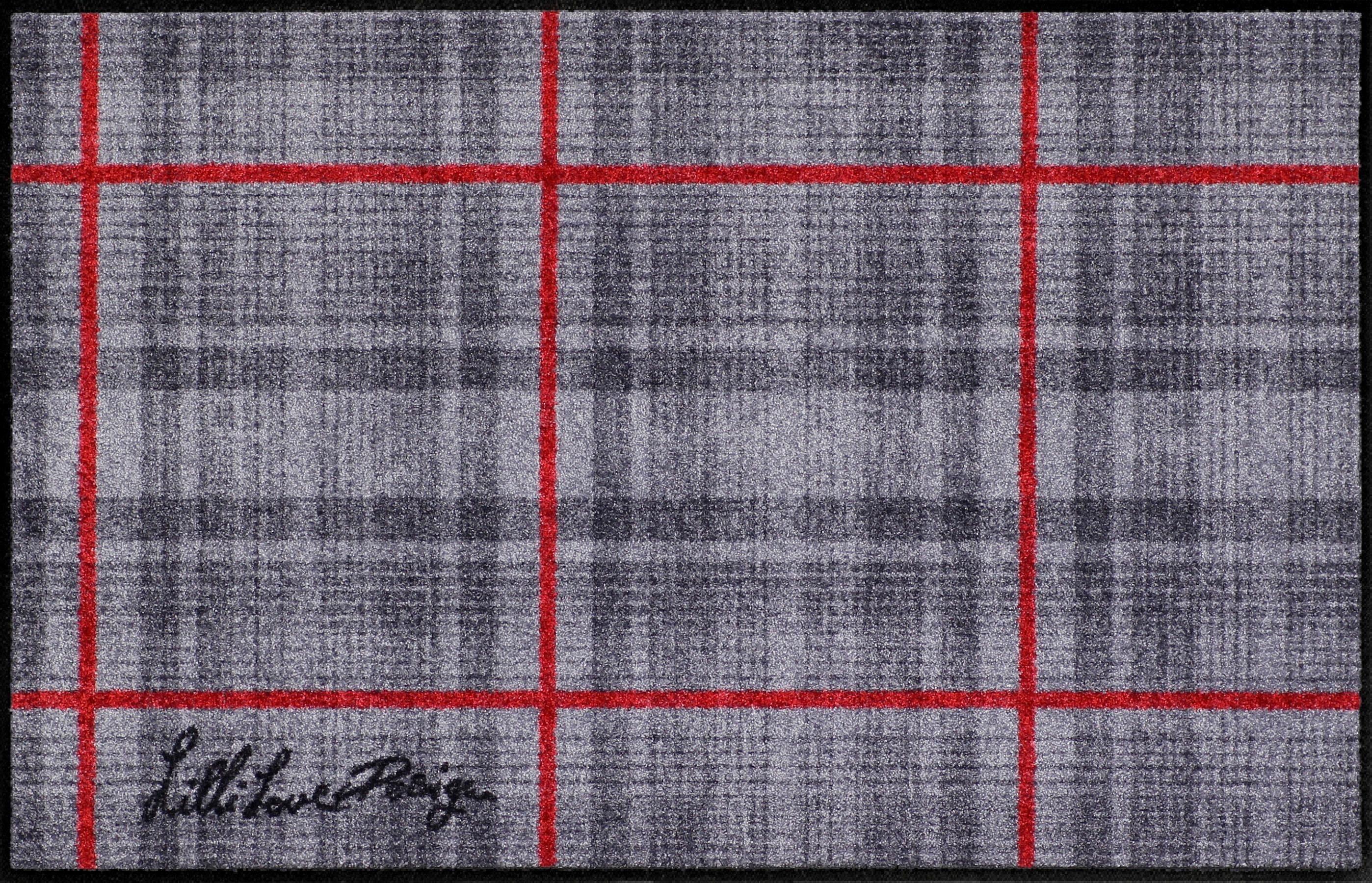 Läufer »Lilli Love Karo«, Salonloewe, rechteckig, Höhe 6 mm