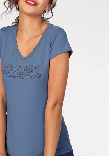 G-Star RAW V-Shirt Danarius, mit Logodruck