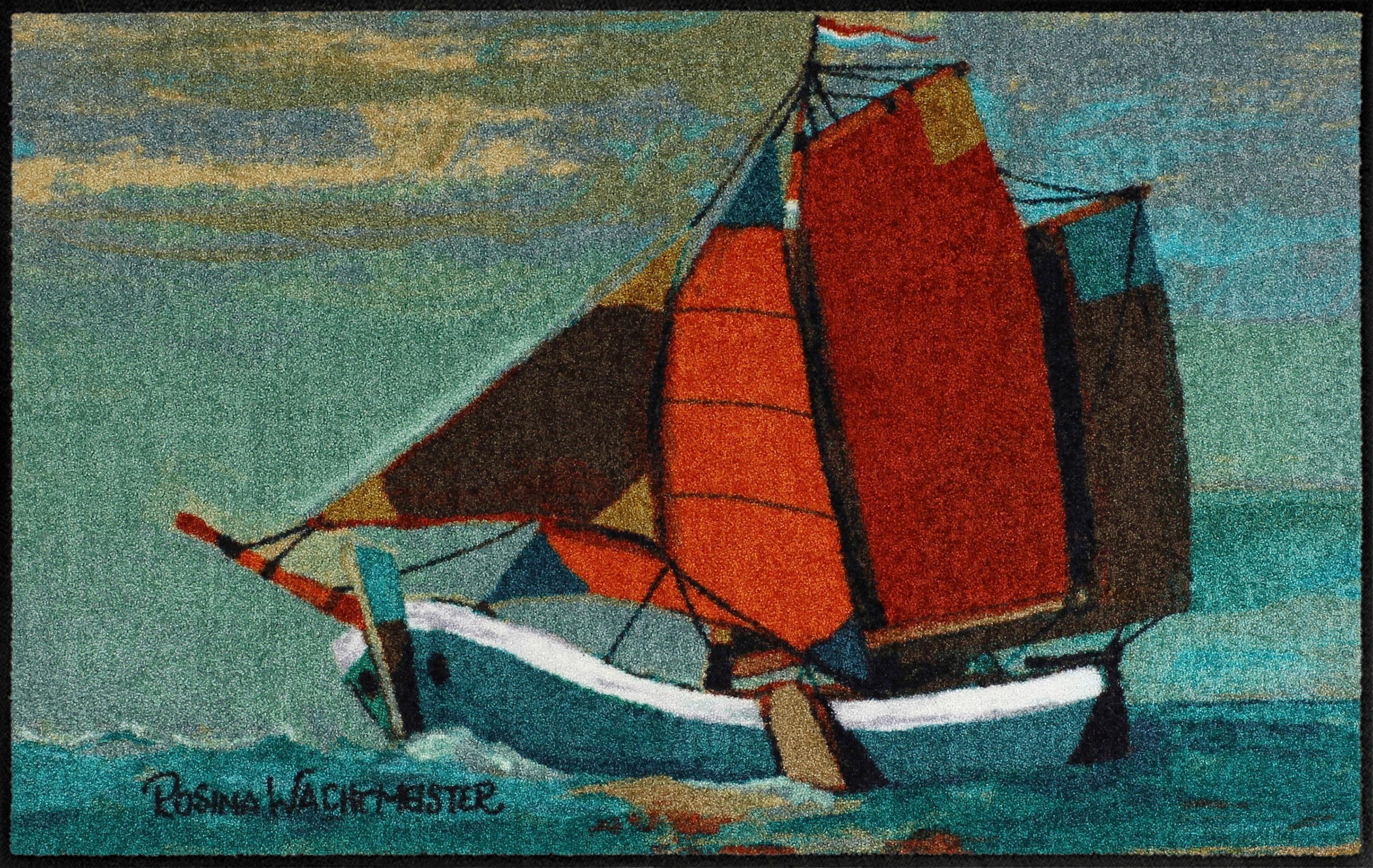 Fußmatte »Sail away«, Salonloewe, rechteckig, Höhe 6 mm
