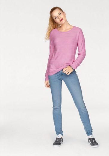 Jacqueline De Yong Crew-neck Sweater With Lacy