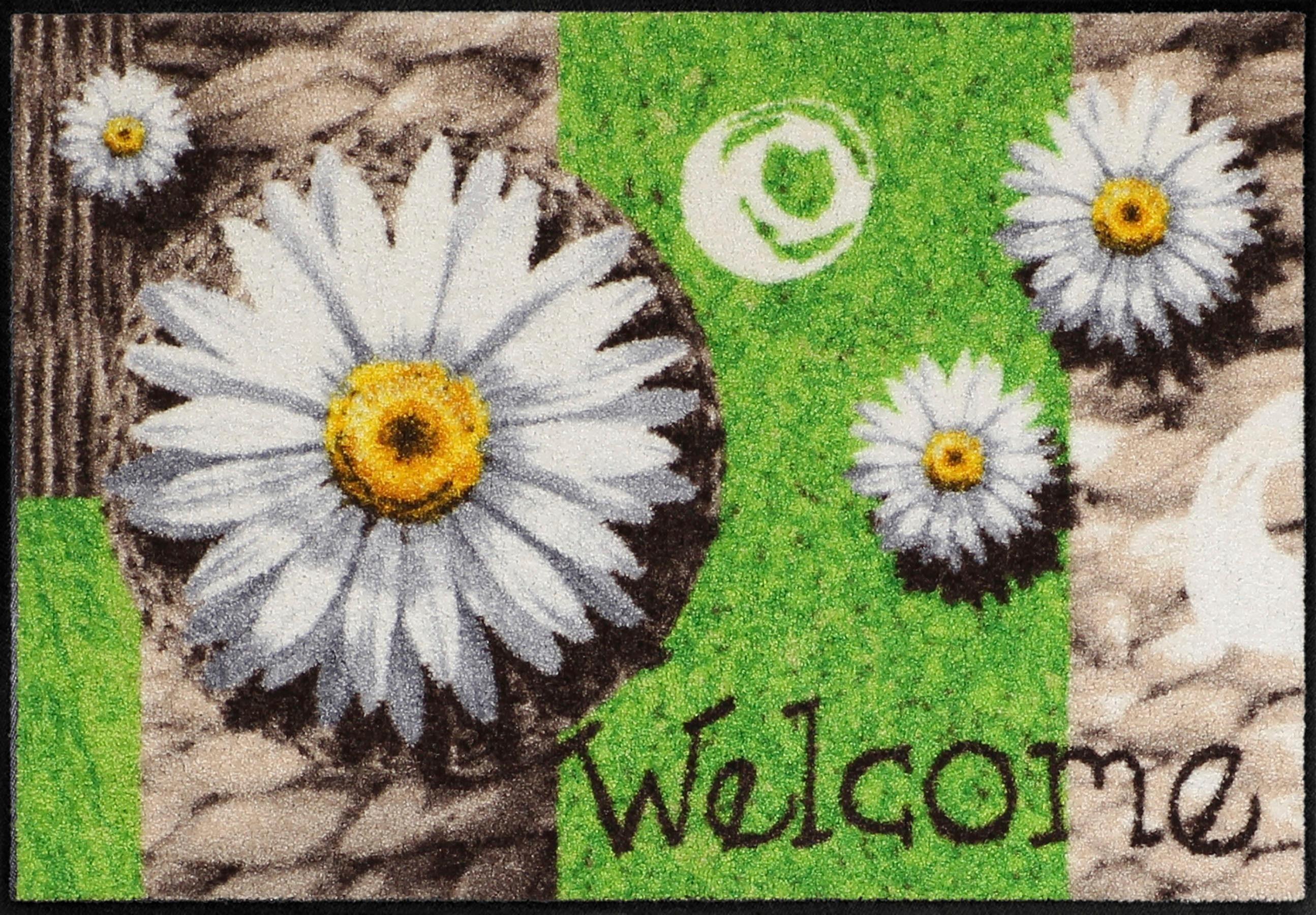 Fußmatte »Marguerite Dream«, Salonloewe, rechteckig, Höhe 6 mm, In- und Outdoor geeignet