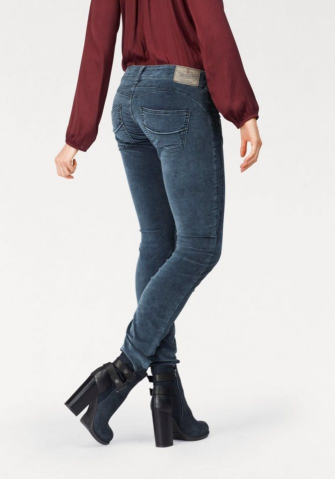 herrlicher slim fit jeans gila slim in modischer. Black Bedroom Furniture Sets. Home Design Ideas