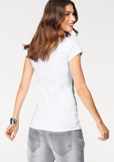 Laura Scott T-Shirt, mit Samtlogo