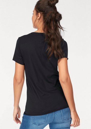 Hilfiger Denim Rundhalsshirt, mit trendy Frontprint