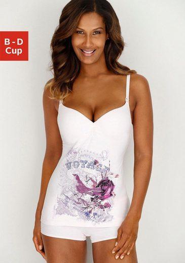 LASCANA Still-BH-Hemd mit Bügel und eingearbeiteten Schalen