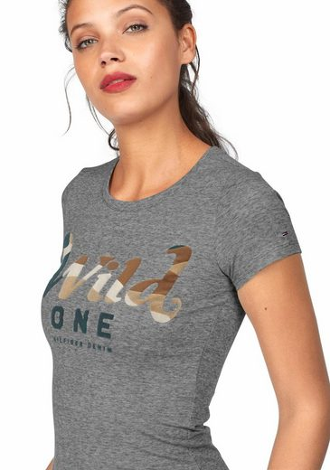 Hilfiger Denim Rundhalsshirt, mit Tarnfarbendruck