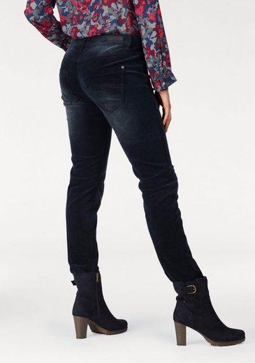 Q/S designed by Slim-fit-Jeans, in Samtoptik