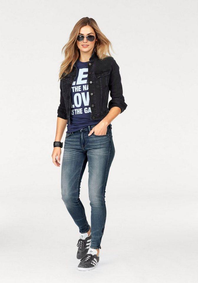 Damen Lee® Stretch-Jeans Scarlett Cropped, Skinny Fit – Powerstretch blau   05400552290921