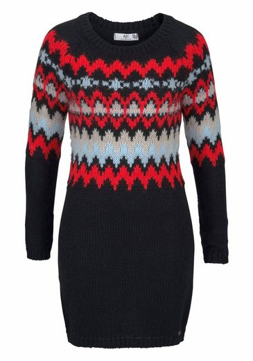 AJC Strickkleid, im Fair-Isle-Norweger-Look
