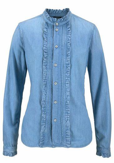 Pepe Jeans Jeansbluse FRILLY, mit modischen Rüschen