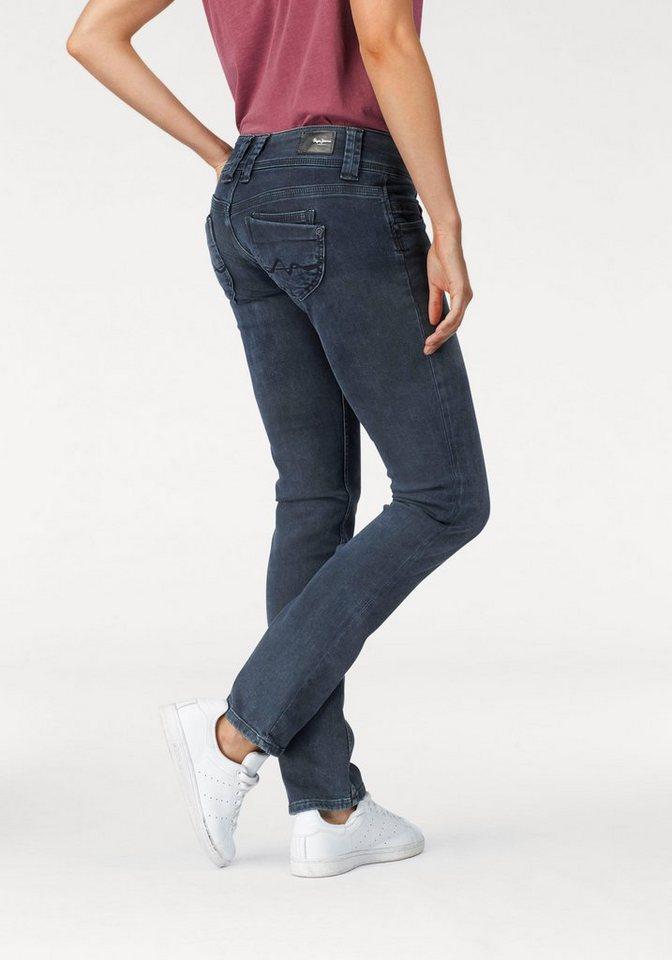 Pepe Jeans Straight-Jeans »VENUS«, mit breitem 2-Knopf-Bund