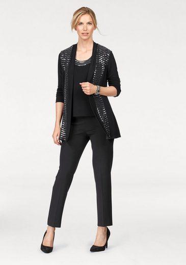 select! By Hermann Lange Jackenblazer, Jersey-Jacke mit schimmernden Pailletten
