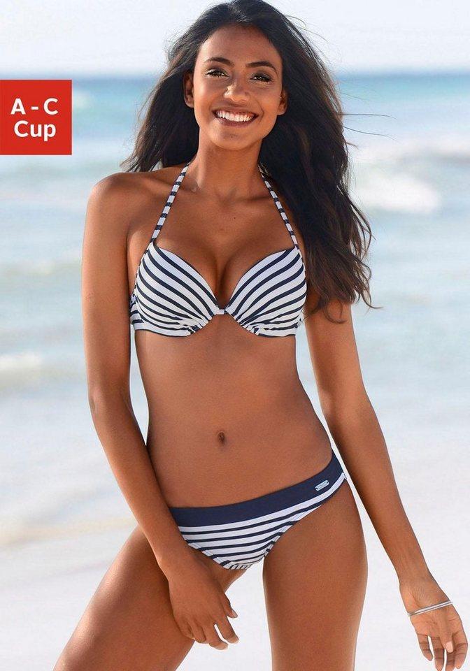 Bademode - Venice Beach Push Up Bikini Top »Summer«, mit wattierten Cups › weiß  - Onlineshop OTTO