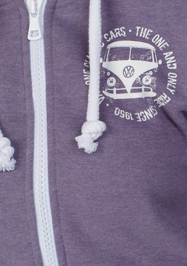 Van One CLASSIC CARS Kapuzensweatjacke BULLI FACE USED, mit modischem Norweger-Strick