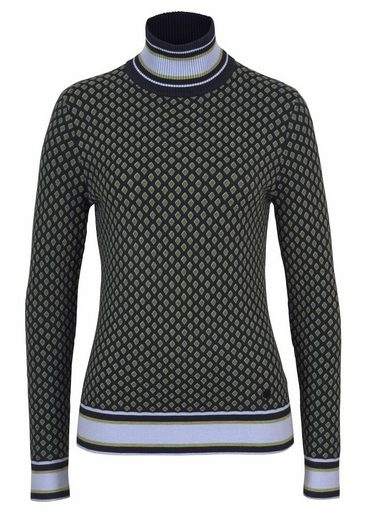 Sportalm Kitzbühel Stehkragen Sweater, With Beautiful Pattern