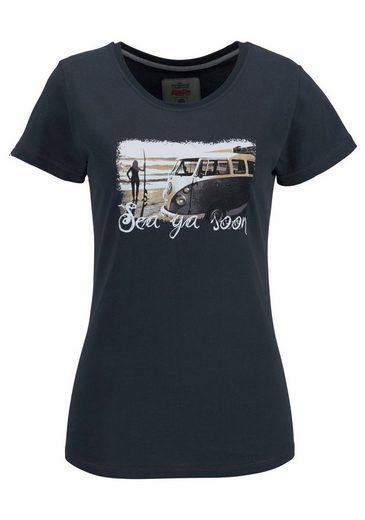 Van One CLASSIC CARS T-Shirt SEA YA SOON, mit tollem Statement-Print