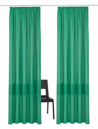 Vorhang »Tivoli«, my home, Kräuselband (2 Stück), Nachhaltig