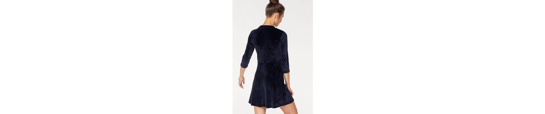 AJC A-Linien-Kleid, aus Samt im Retro Look