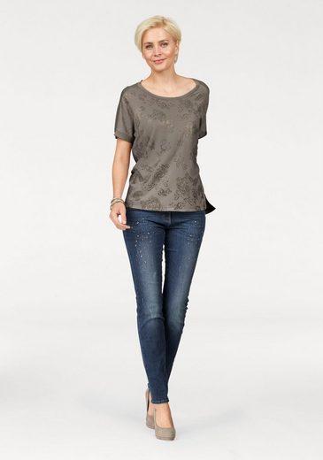 Mit Brax fit Slim Dekorativen jeans Glitzersteinen Diamond Shakira wwfORzq