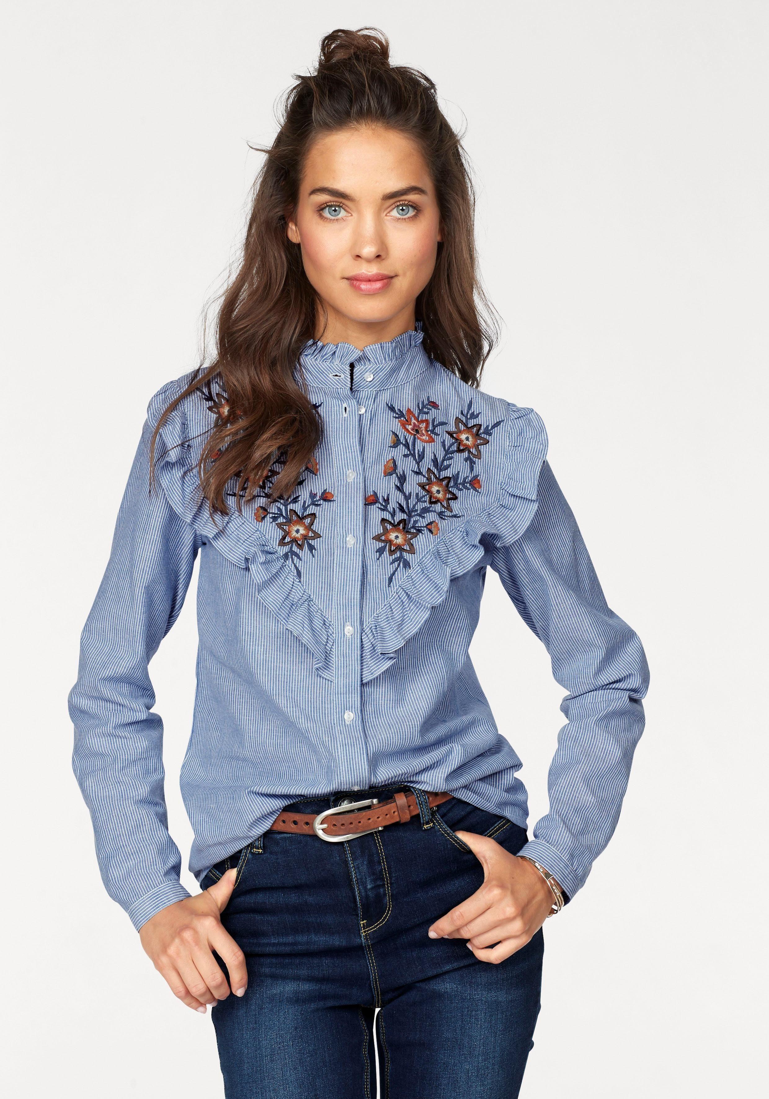 Kleidung & Accessoires Damenmode Rüschenbluse