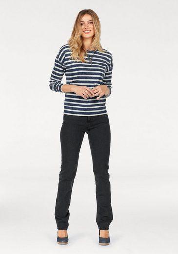 Lee® Langarmshirt, im modisch-maritimen Ringel-Look