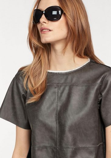 Sportalm Kitzbühel Crew-neck Shirt, Made Of Imitation Leather