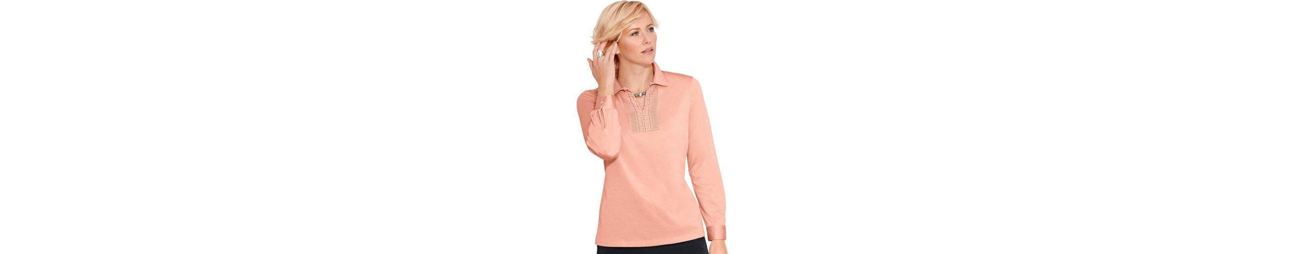 Classic Poloshirt mit dekorativem Schlaufenverschluss Sehr Billig Verkauf Online Genießen Günstig Online juyTu6n