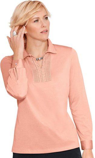 Classic Poloshirt mit dekorativem Schlaufenverschluss