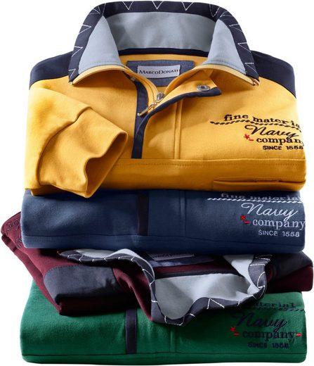 Marco Donati Kurzarm-Shirt aus reiner Baumwolle