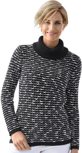 Collection L. Turtleneck-sweater In Stripe Pattern