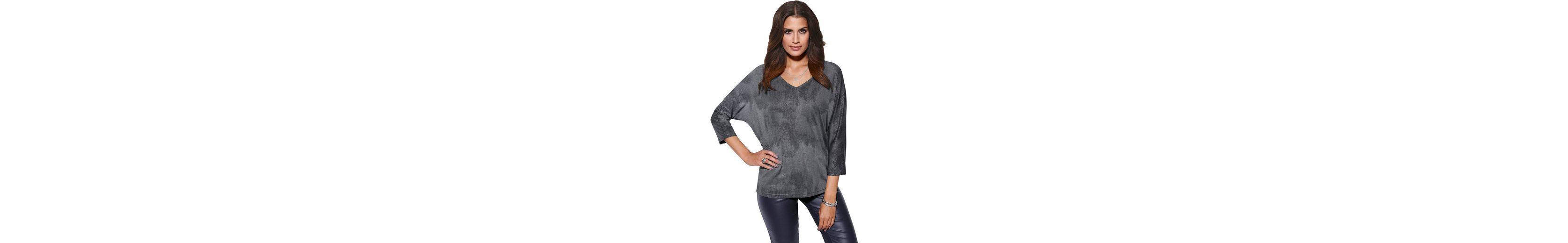 Création L Shirt mit silberfarbigem Überdruck Neue Preiswerte Online Rabatt-Codes Spielraum Store Countdown-Paket gMszWWWix