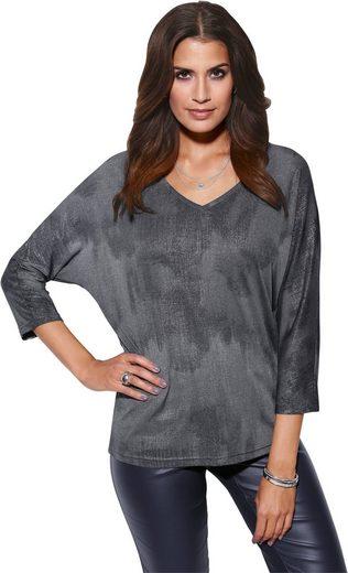 Création L Shirt mit silberfarbigem Überdruck