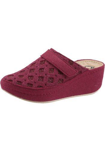 Damen Collection L. Pantolette mit Gel-Massage-Fußbett rot | 04260542640171