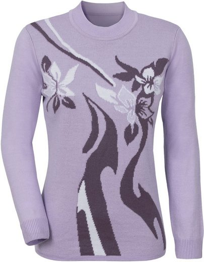 Classic Basics Pullover mit Rippbündchen am Ärmel