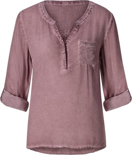 Classic Inspirationen Bluse in angesagter oil dyed-Waschung