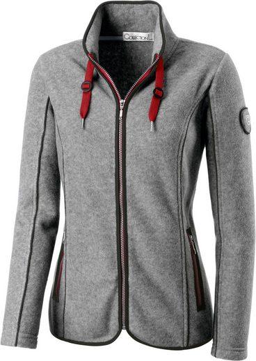 Collection L. Fleece-Jacke mit Reißverschluss