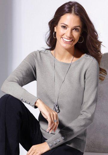 Classic Inspirationen Pullover aus reiner Baumwolle