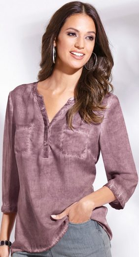 Classic Inspirationen Bluse in angesagter oil dyed-Optik