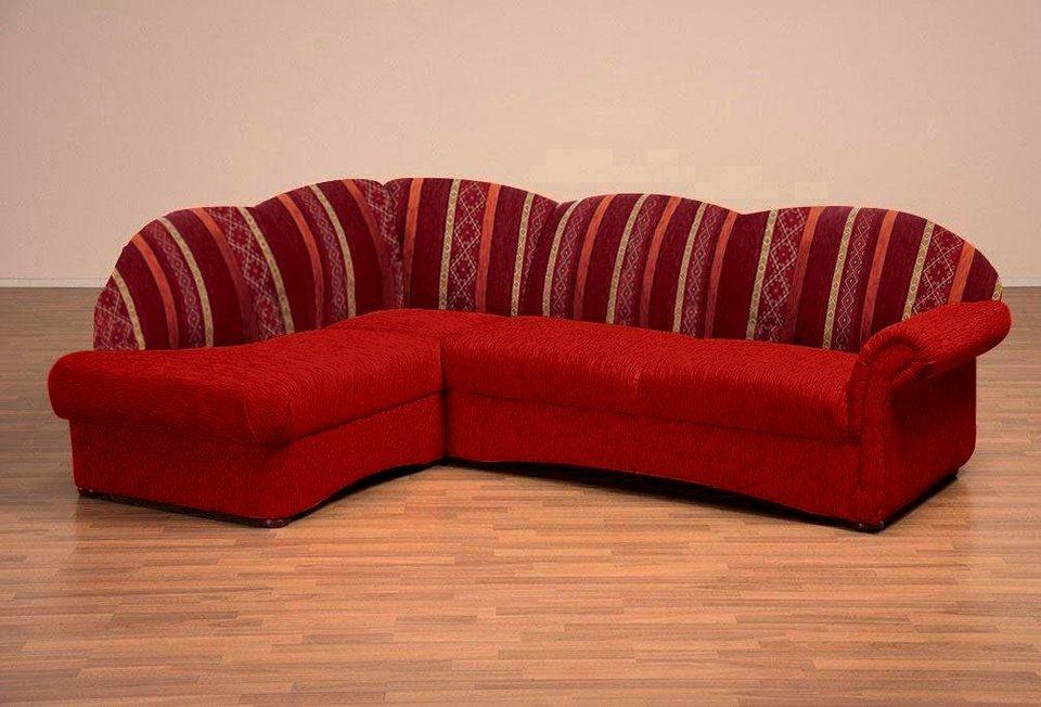 home affaire polsterecke colombo mit federkern und. Black Bedroom Furniture Sets. Home Design Ideas