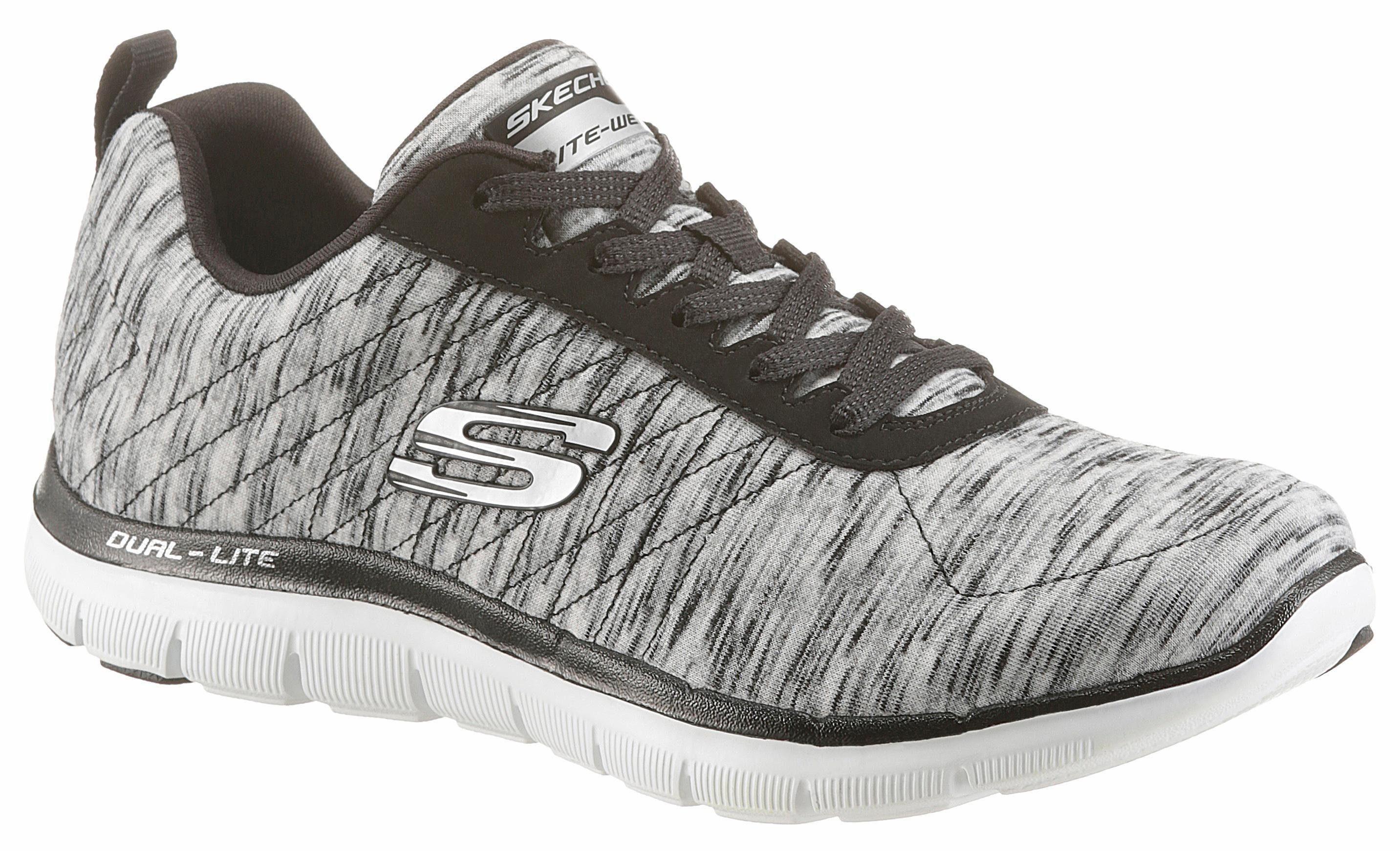 Skechers »Flex Appeal 2.0« Sneaker, mit Air Cooled Memory Foam, grau, grau-mint